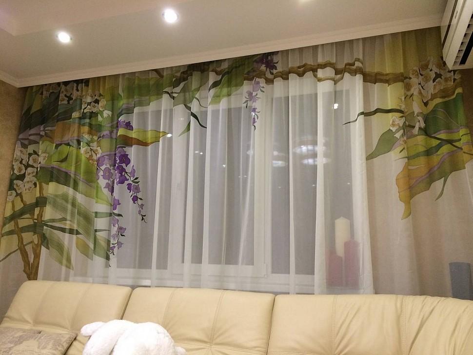 Сублимация на тканевых шторах и тюлях