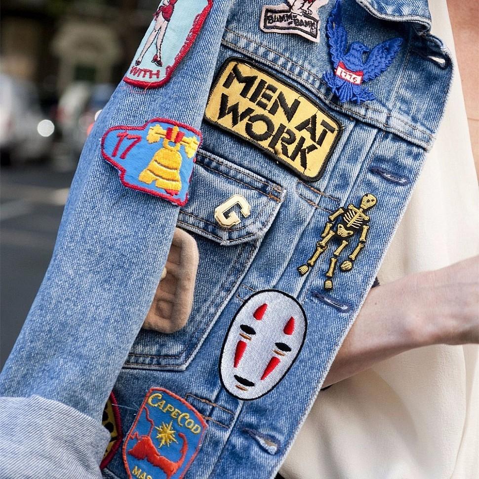 Патчи на джинсовке