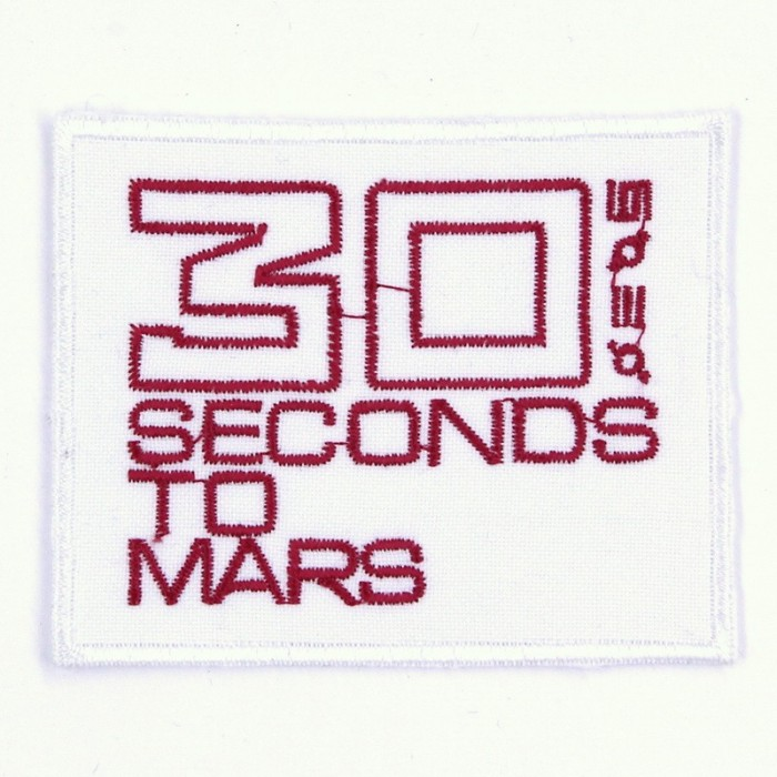 Декор нашивка  30 Seconds To Mars (белая)