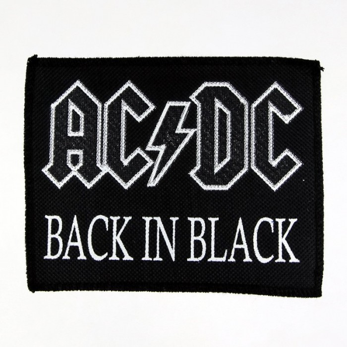 Декор нашивка  AC/DC - Back In Black (90х115)