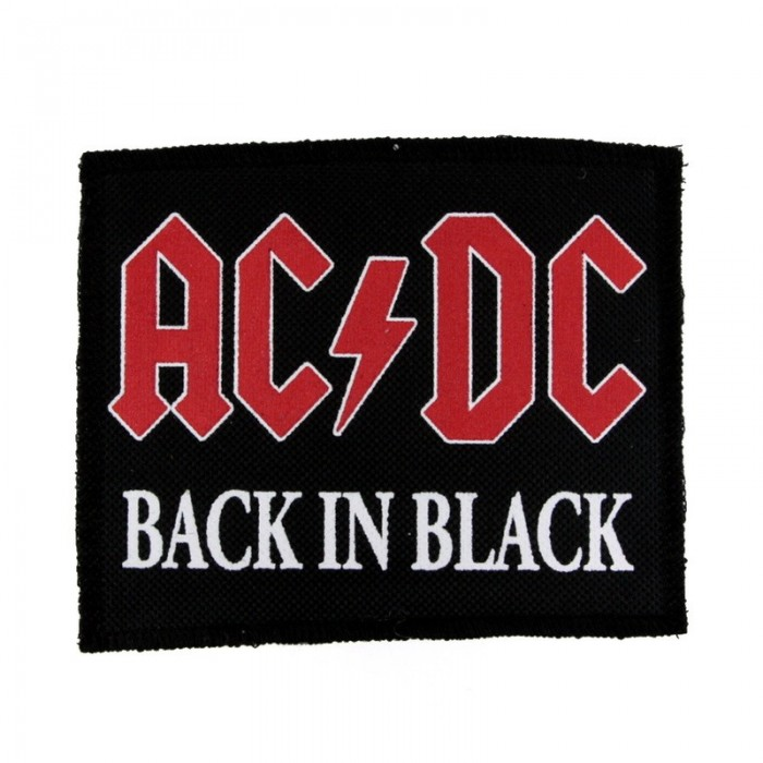 Декор нашивка  AC/DC - Back In Black (95X115)
