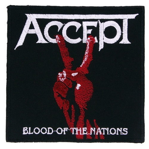 Декор нашивка  Accept Blood of the Nations