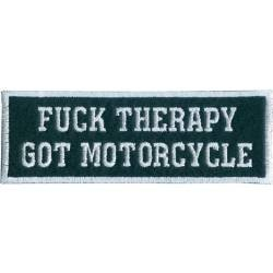 Декор нашивка Fuck therapy Got Motorcycle (10.0 х 3.5)