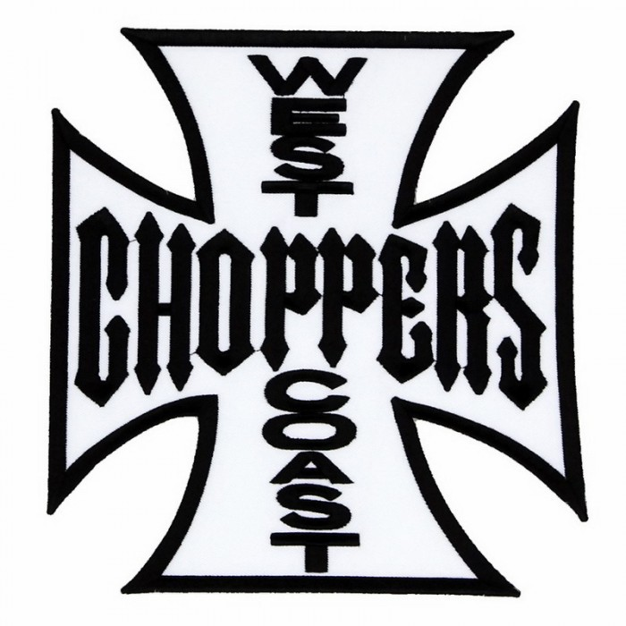 Декор нашивка  West Coast Choppers (черные буквы)